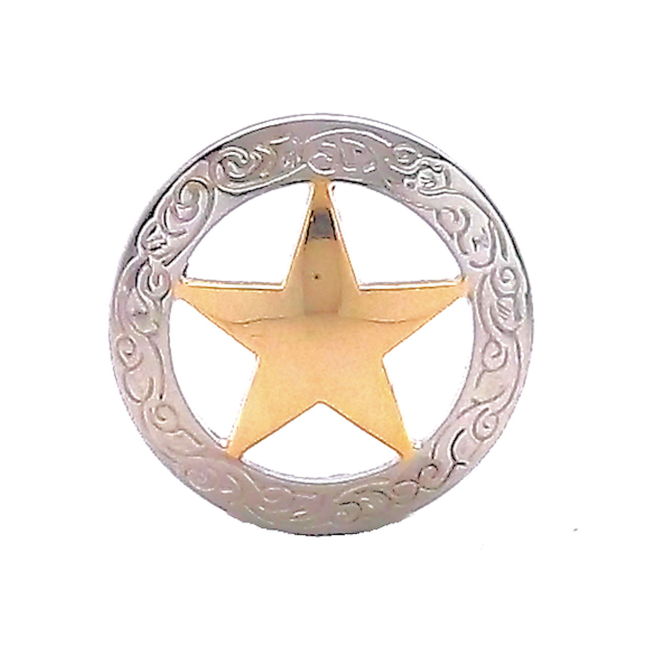 "Texas Star Engraved Screw Back Concho 3//4/"" 11373-01"