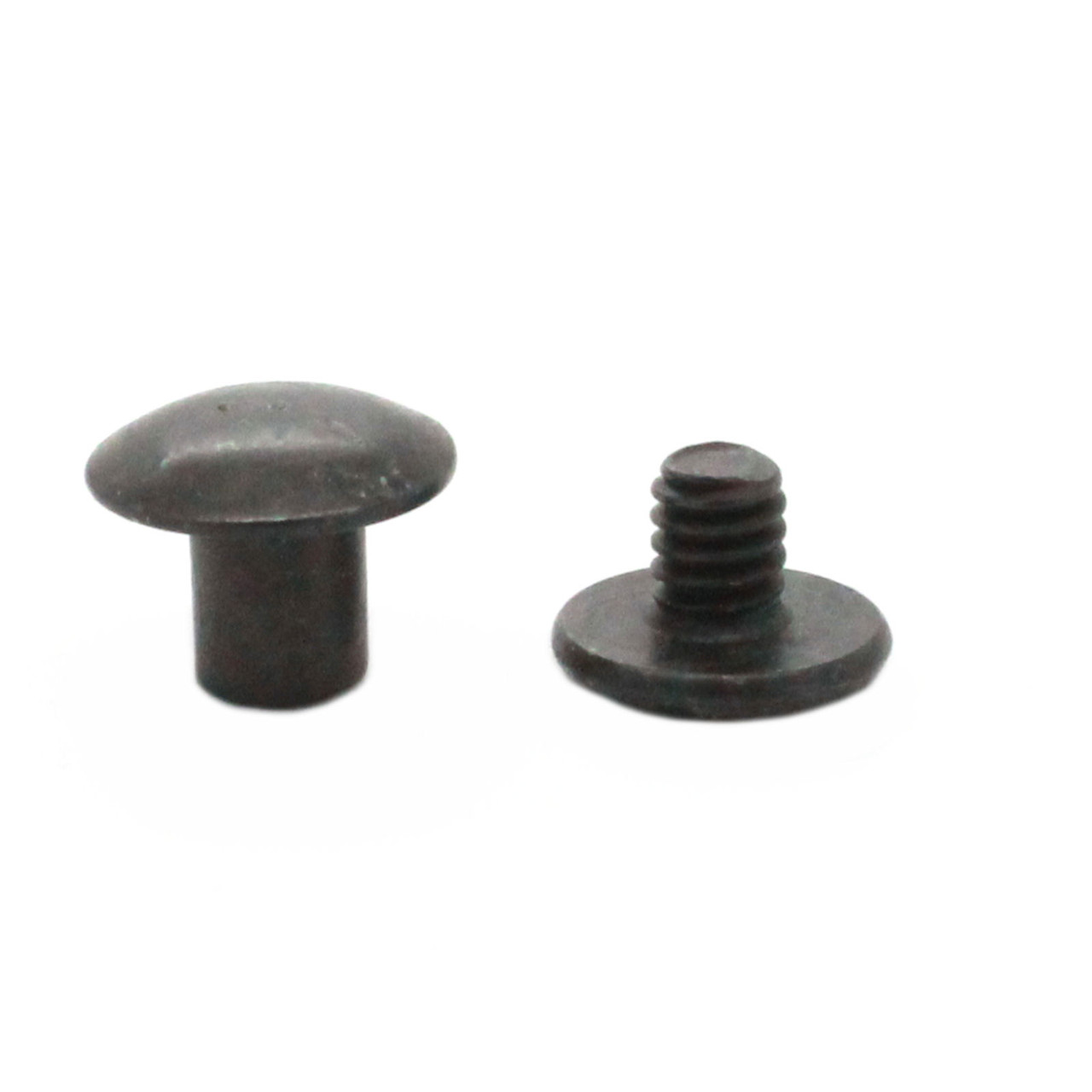"""Black Plated Smooth Steel Chicago Screws 1/4"""""""