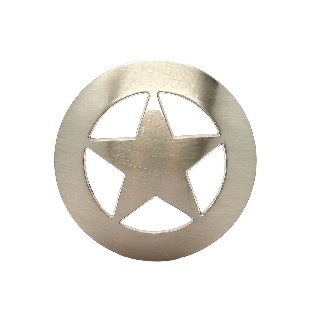 "Brushed Nickel Smooth Star Concho 3/4"" 7536-05 by Stecksstore"