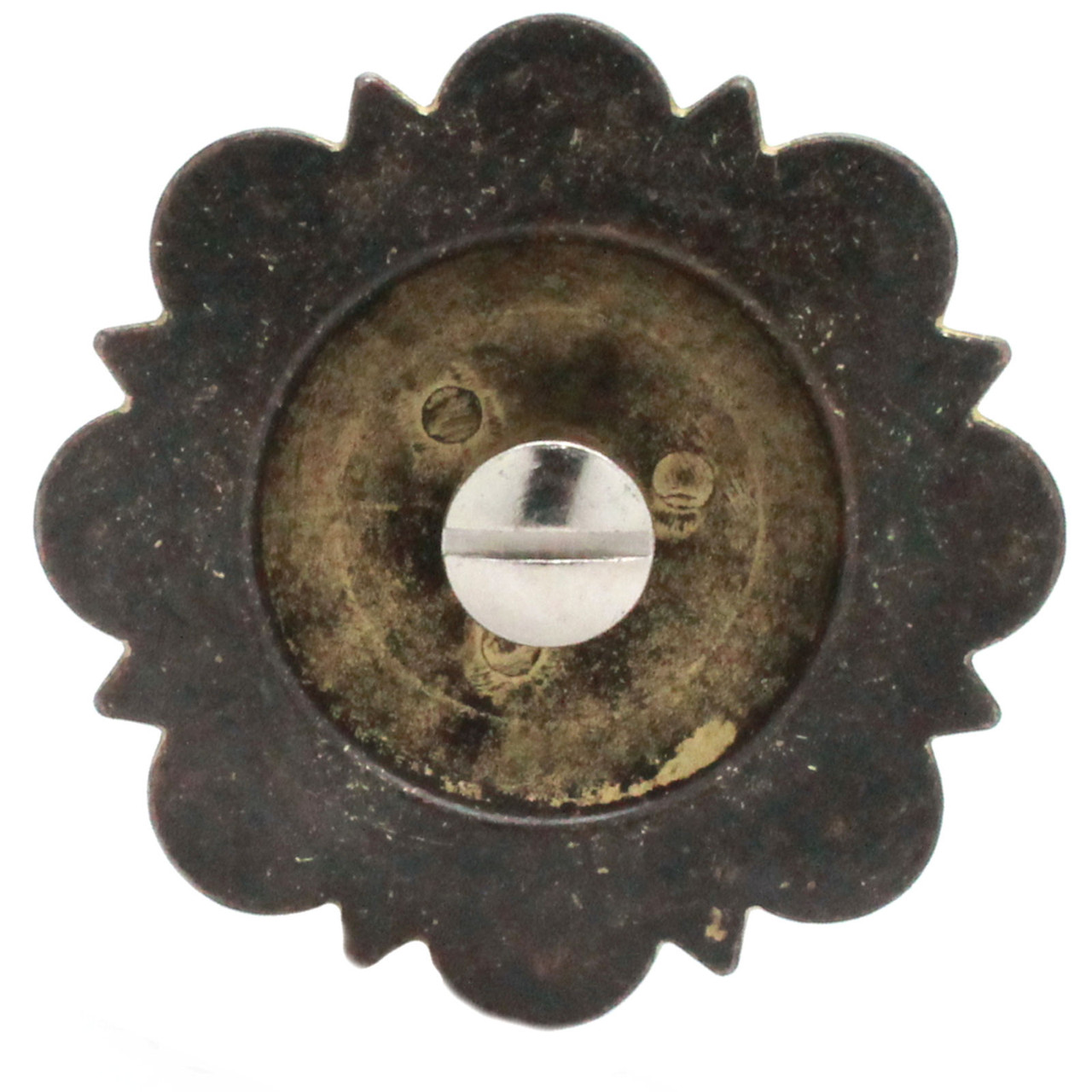 Berry Concho Rustic Gold Screw Back 1-3/4 back