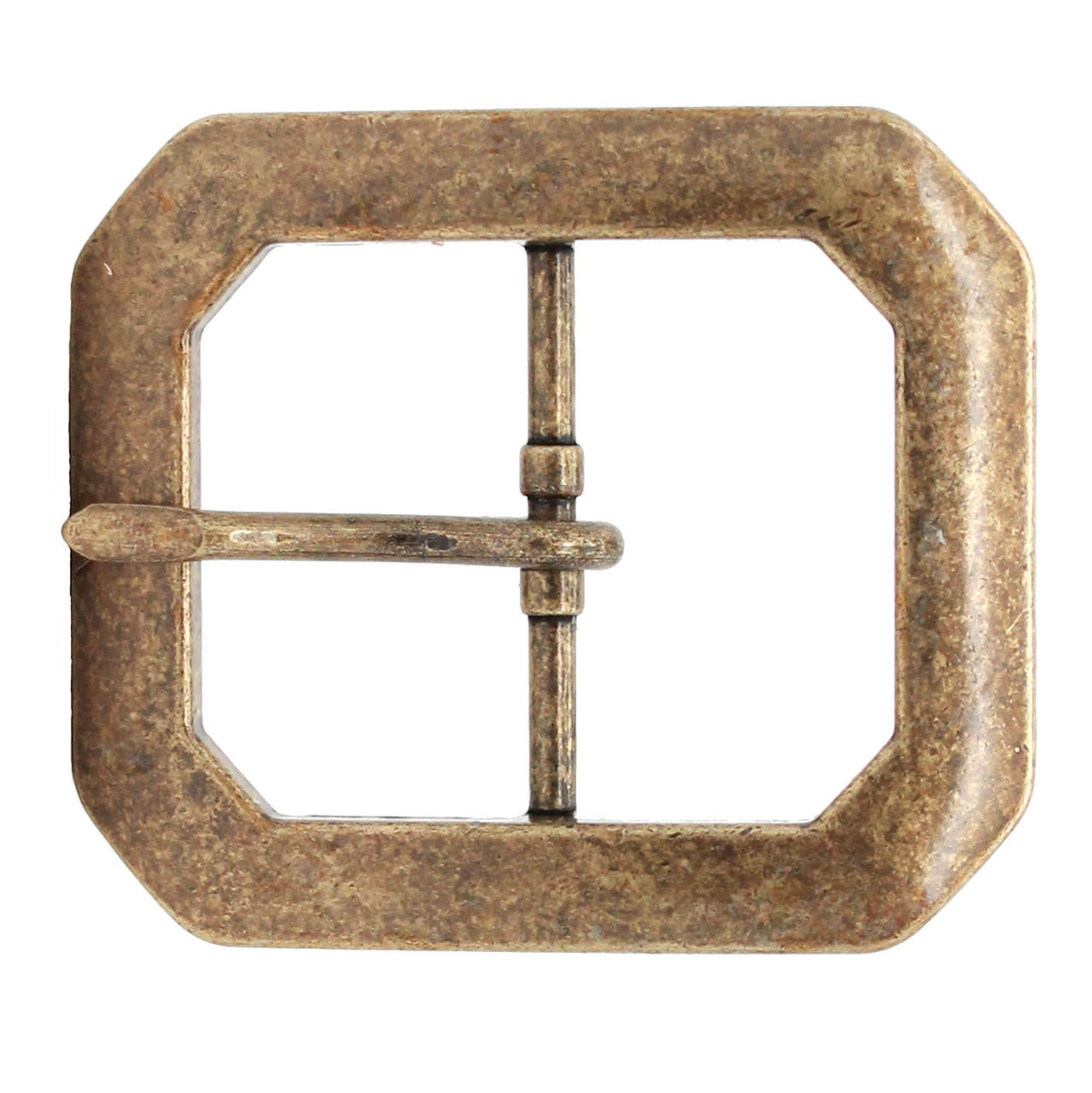 """Clipped Corner Buckle 1-1//2/"""" Antique"""