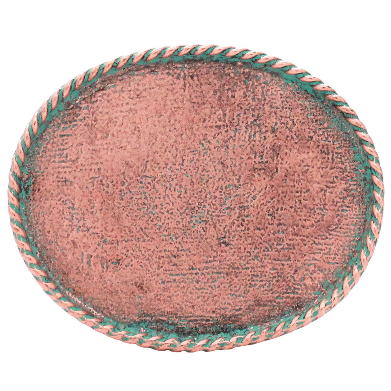 Creatieve hobby's Celtic Trophy Belt Buckle Antique Copper Patina 6012-90 3.0 x 2.5