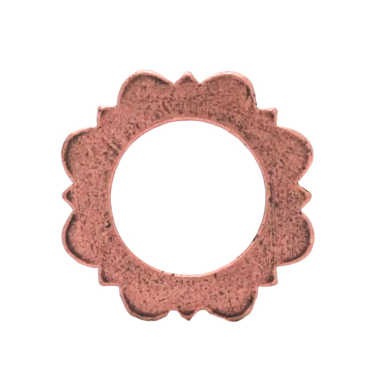"Flat Ring Antique Copper 1"" Back"