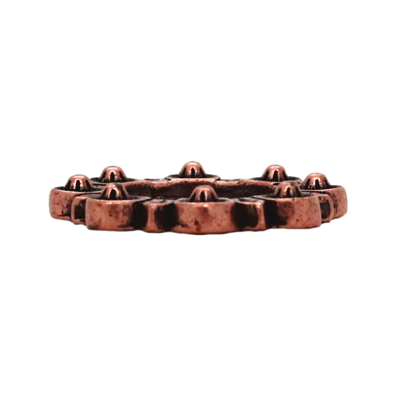 """Flat Ring Antique Copper 1"""" Side"""
