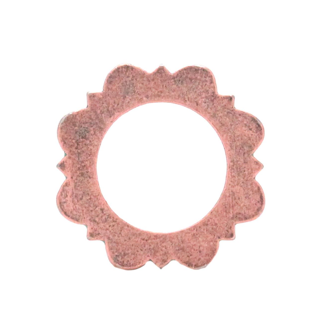 "Flat Ring Copper Patina 1"" Back"