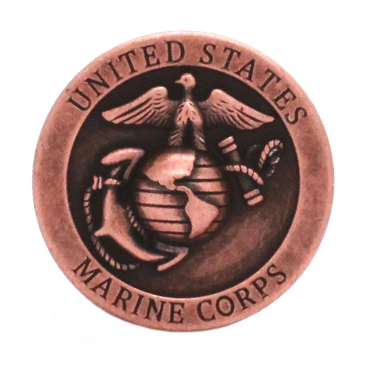 Marine Corps Logo Antique Copper Front