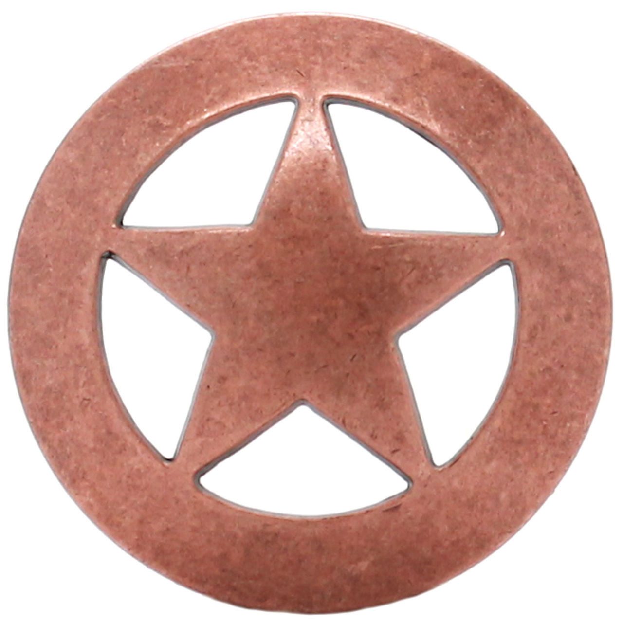 """Smooth Star Screw Back Concho Copper Plated 2/"""" 7532-10 Stecksstore"""