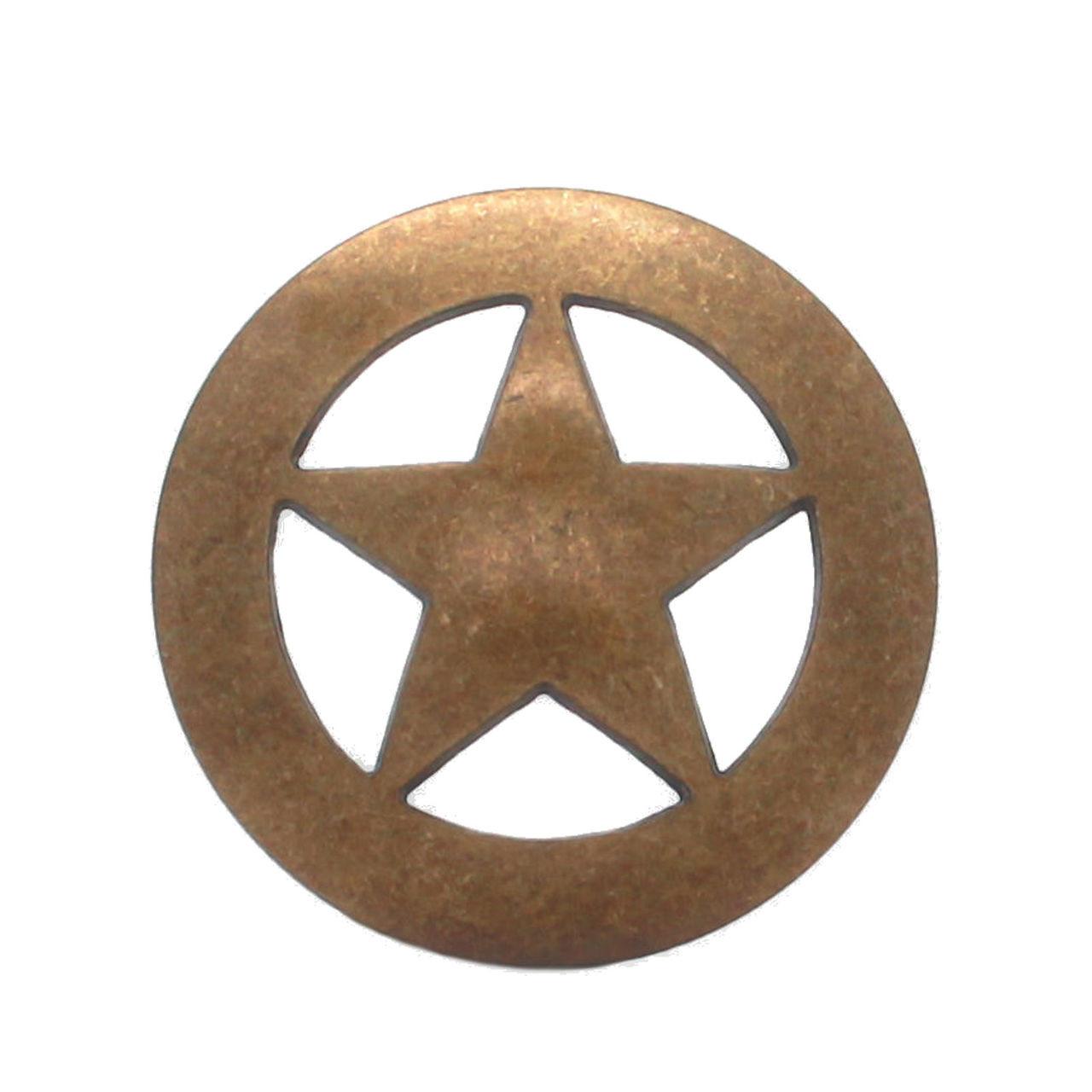 "Smooth Star Screw Back Concho Antique Brass 3/4"" 7536-21 Stecksstore"