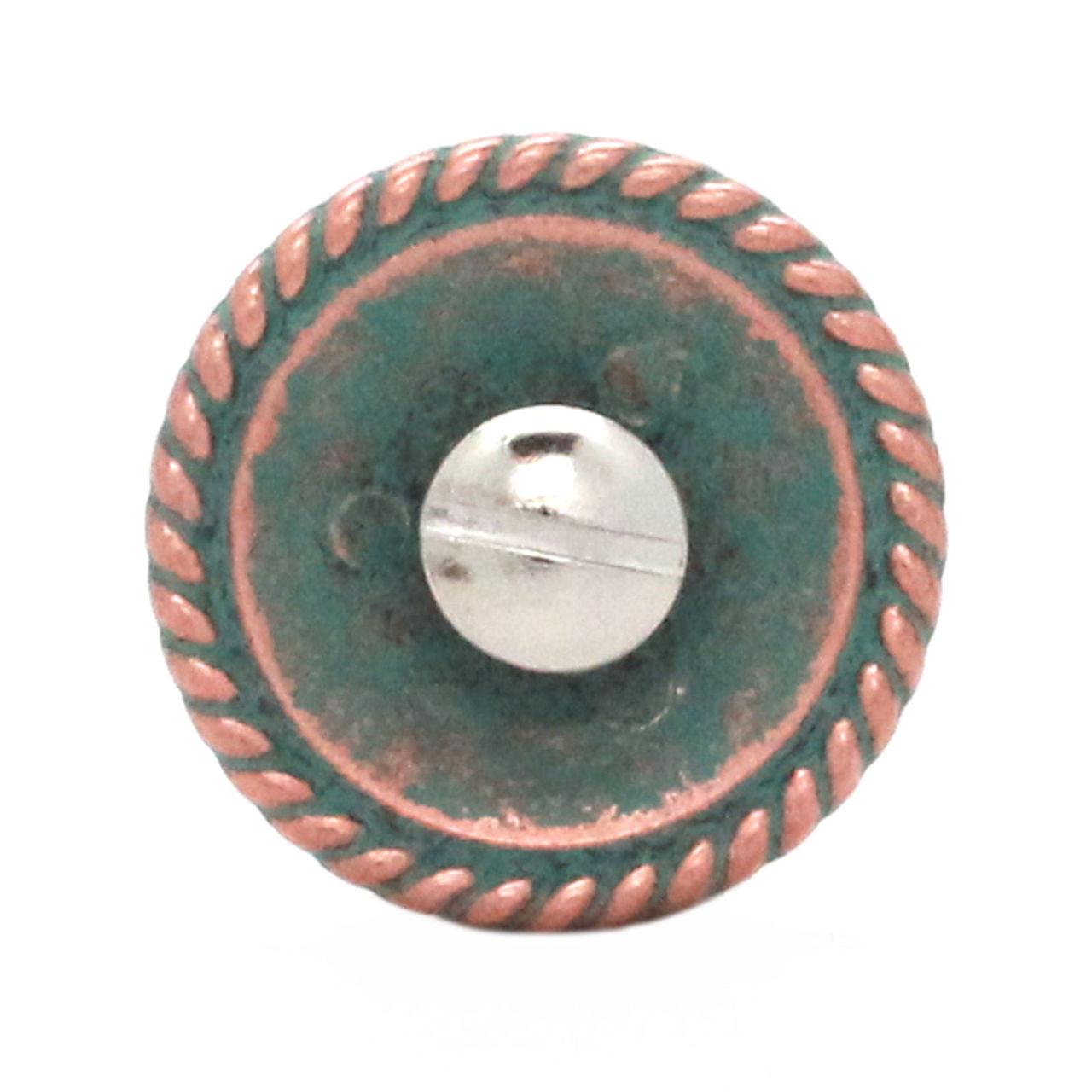 Fleur de Lis Rope Edge Copper Patina Concho Back