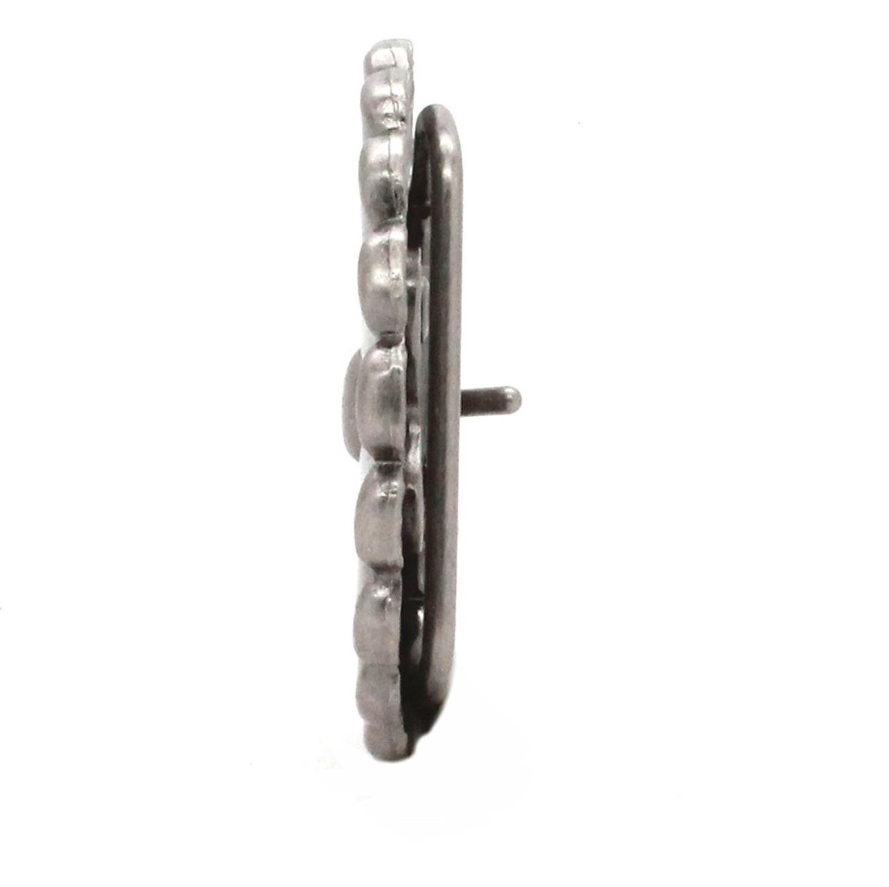 Pinwheel Trophy Belt Buckle Antique Nickel Side