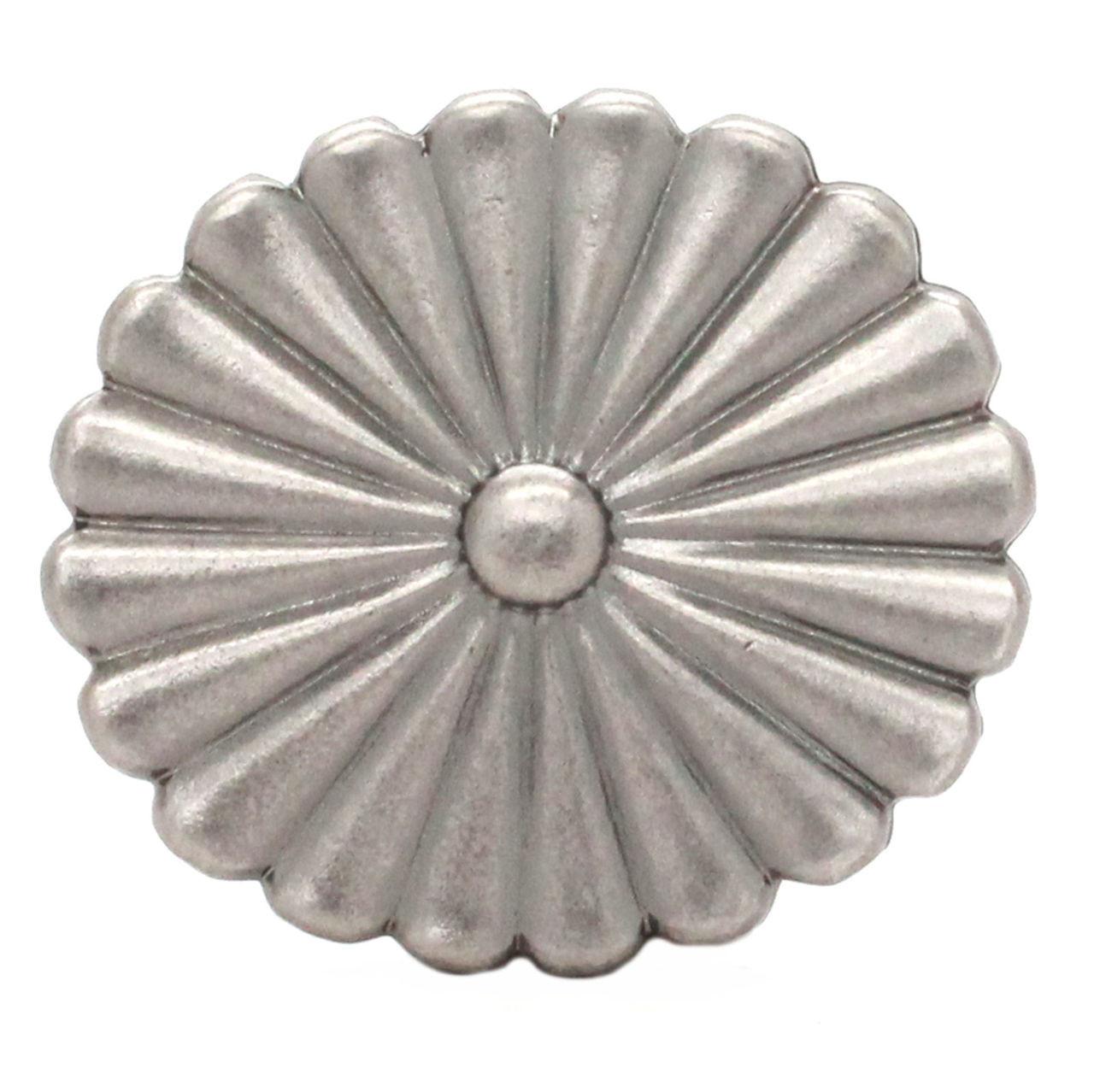 Pinwheel Trophy Belt Buckle Antique Nickel Front