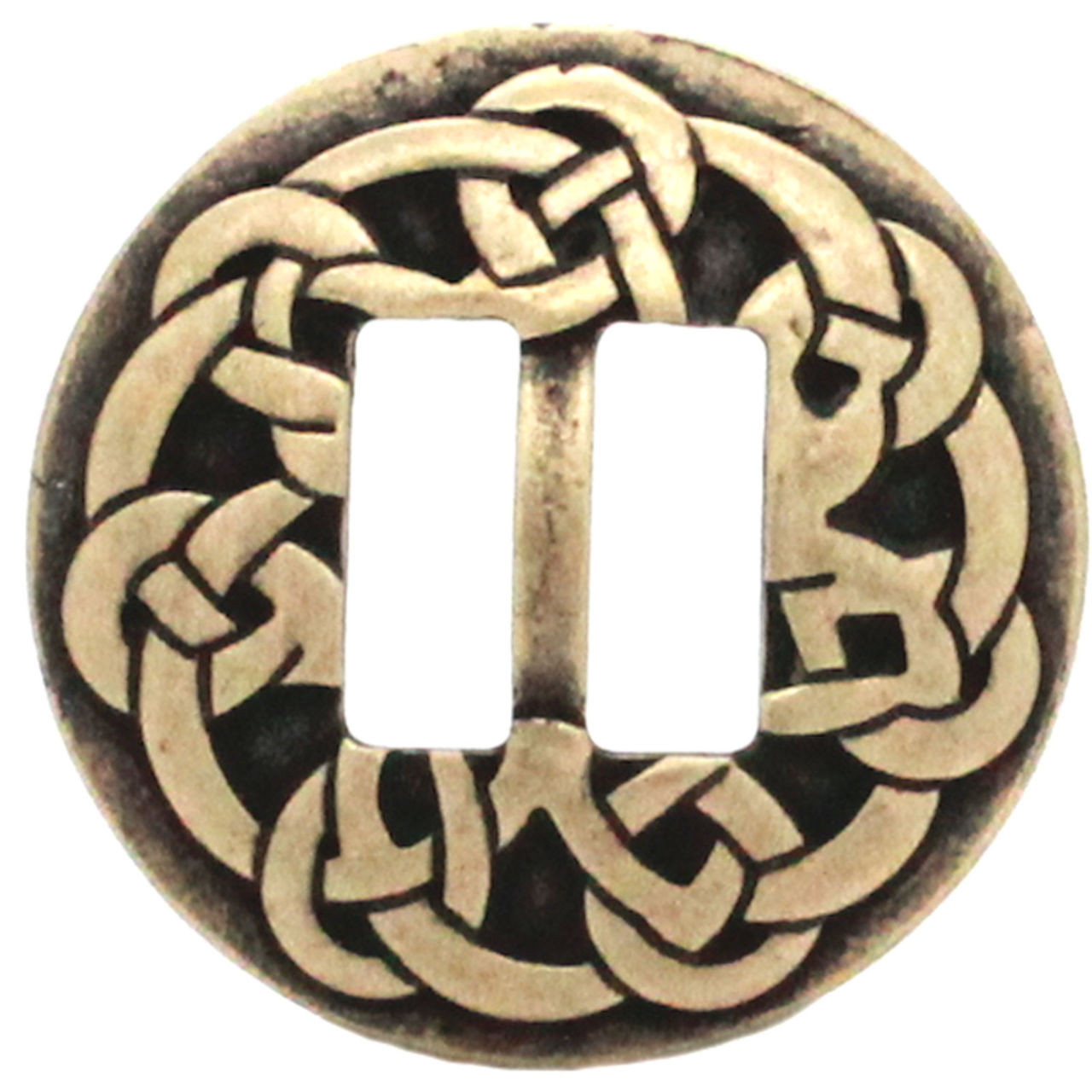 """Pictish Knot Celtic Slotted Concho Antique Nickel 1-1//2/"""" 20716-21 Stecksstore"""