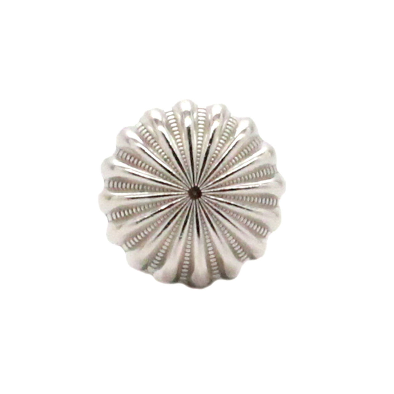 """Pinwheel Concho Silver 3/4"""" Front"""