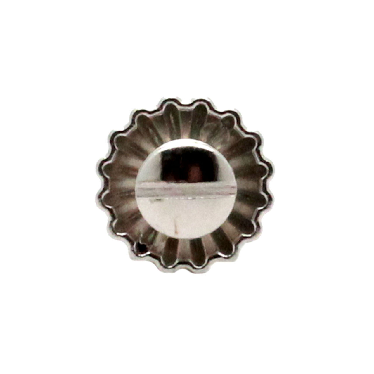 """Pinwheel Concho Silver 3/4"""" Back"""