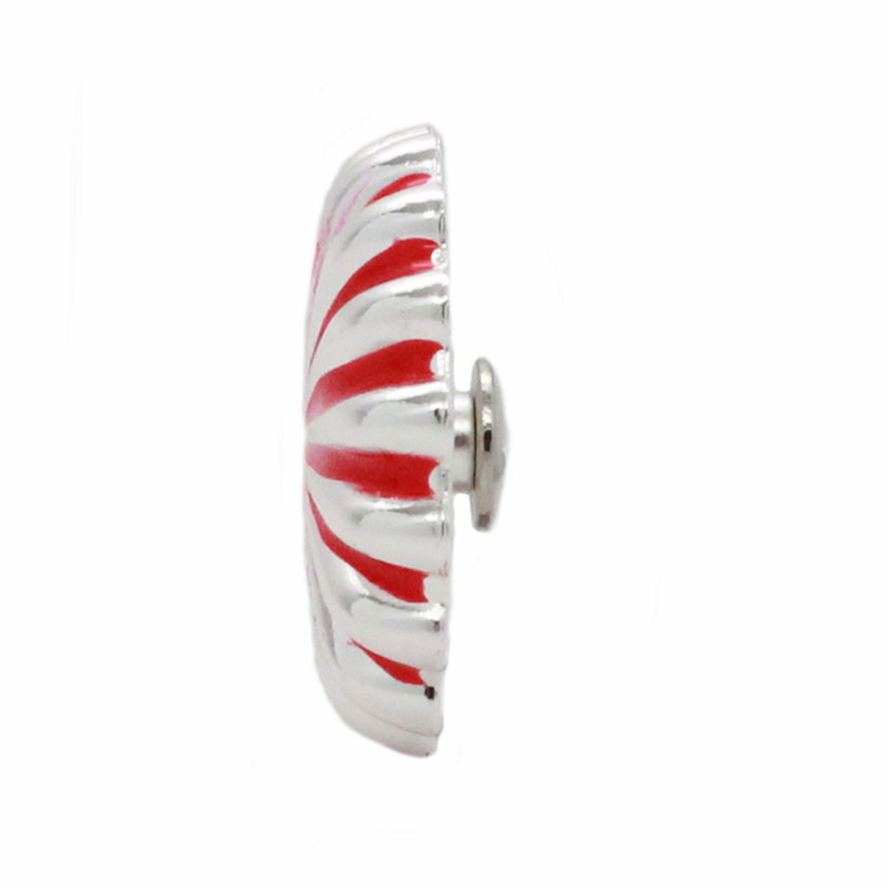 """Pinwheel Concho Silver And Red 1"""" Side"""