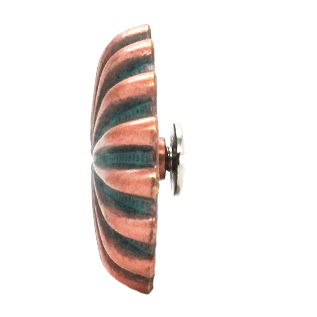 "Pinwheel Concho Copper Patina 1.25"" Side"