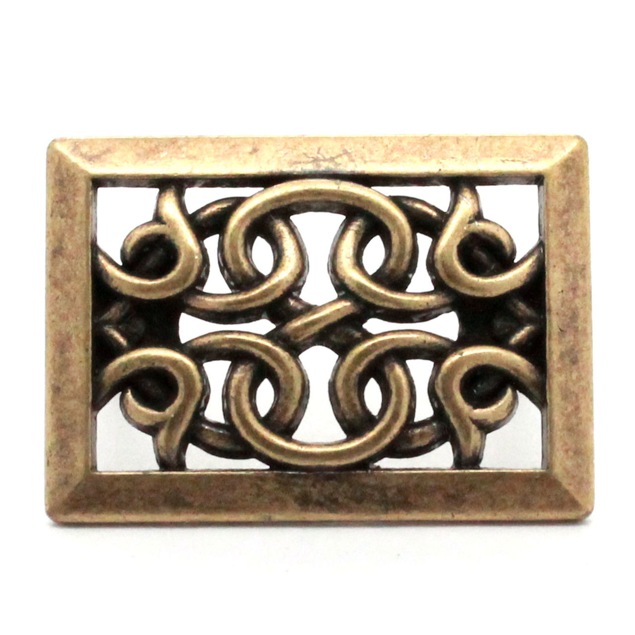 Upholstery tack antique brass front