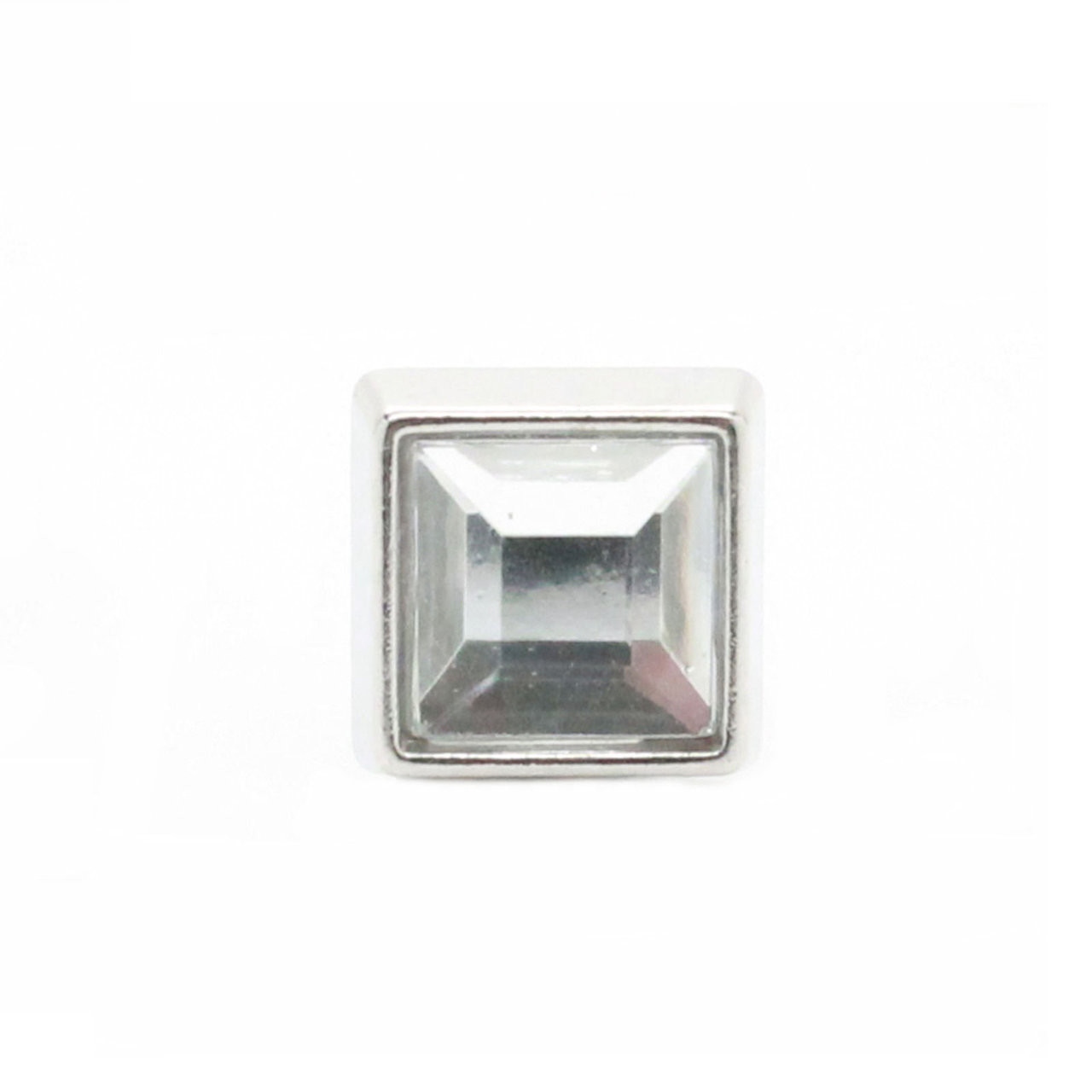 """Clear Crystal Square 3/8"""" Tack Upholstery head on"""