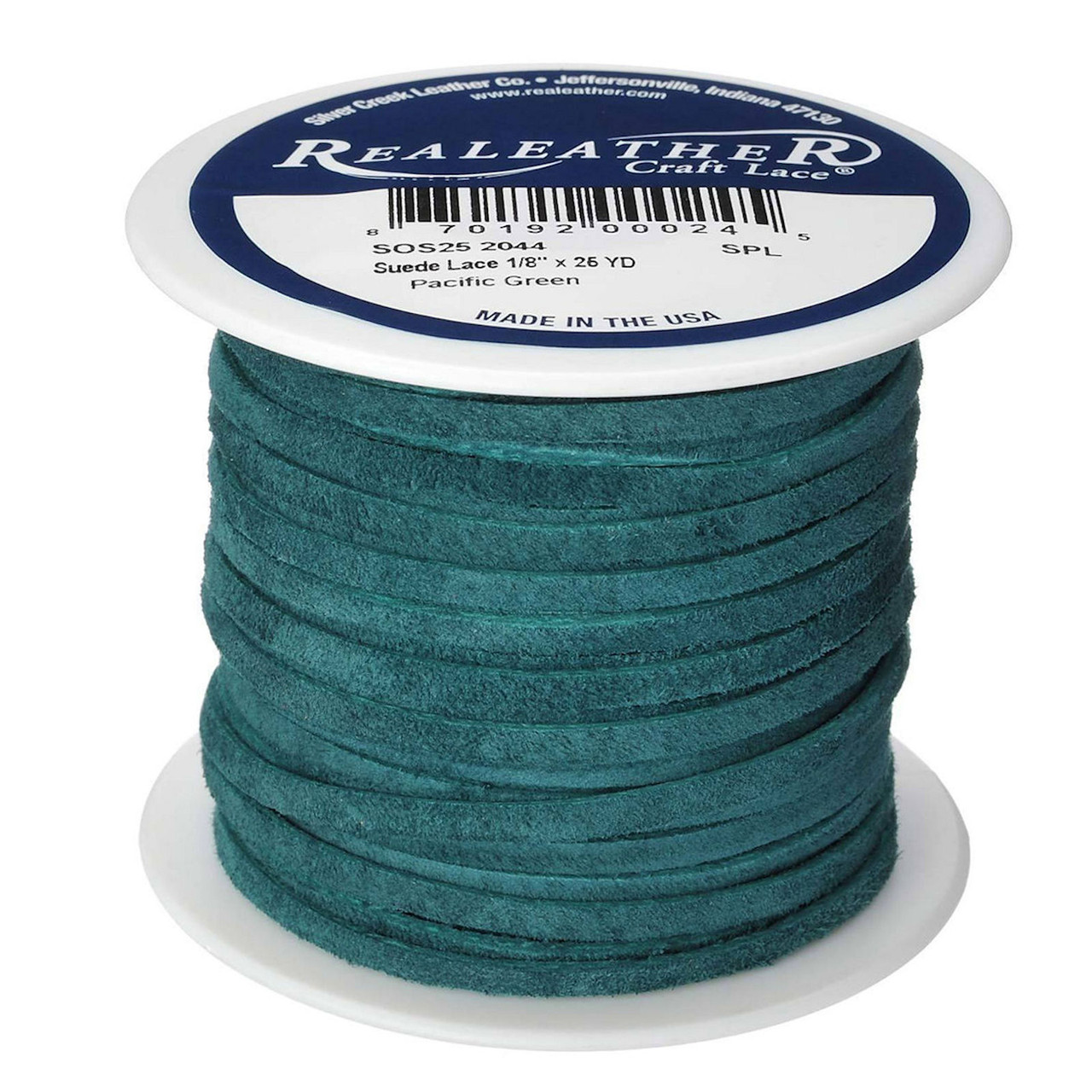 Suede Lace Pacific Green Spool