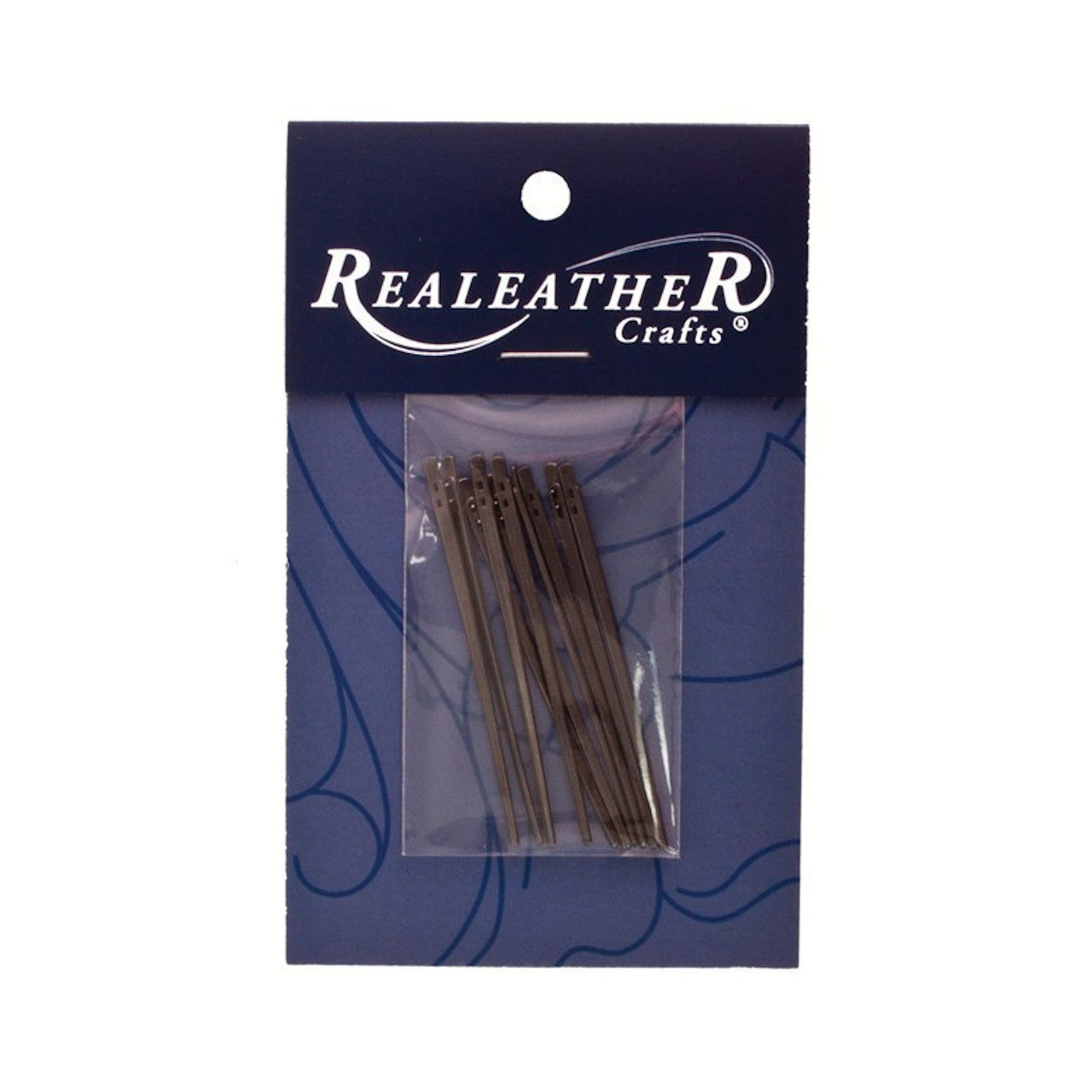 Realeather Lacing Needle 2-Prong 10 Pack Package