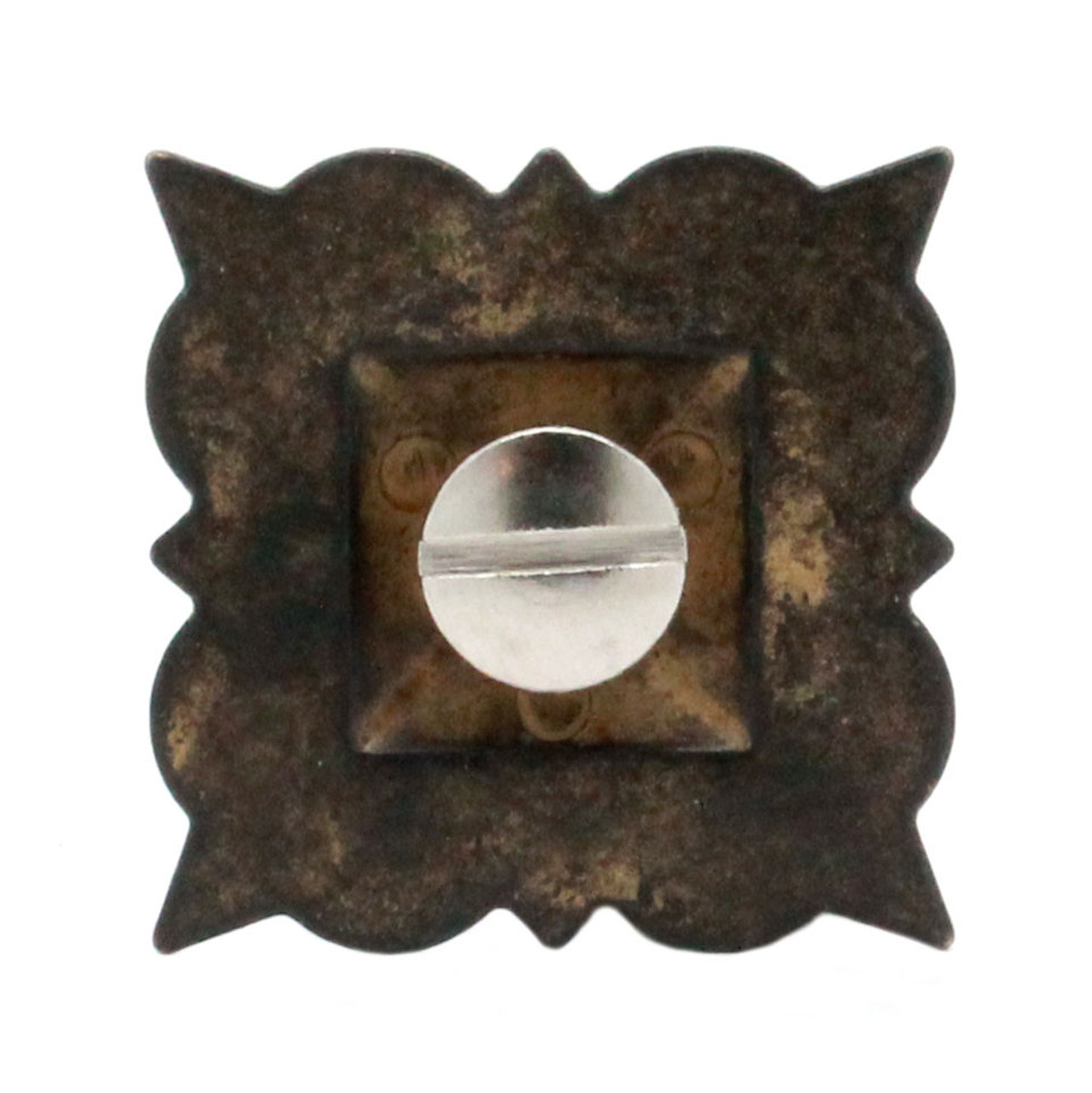 """Berry Square Concho 1.25"""" Screw Back Rustic Gold Back"""