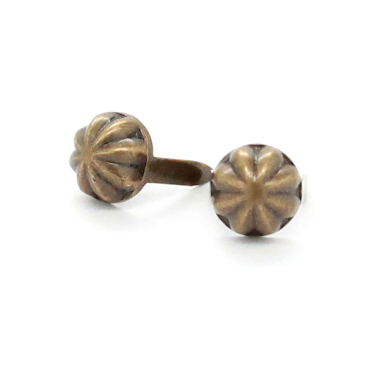 "Parachute Nail Head Spots Antique Brass 1/4"""