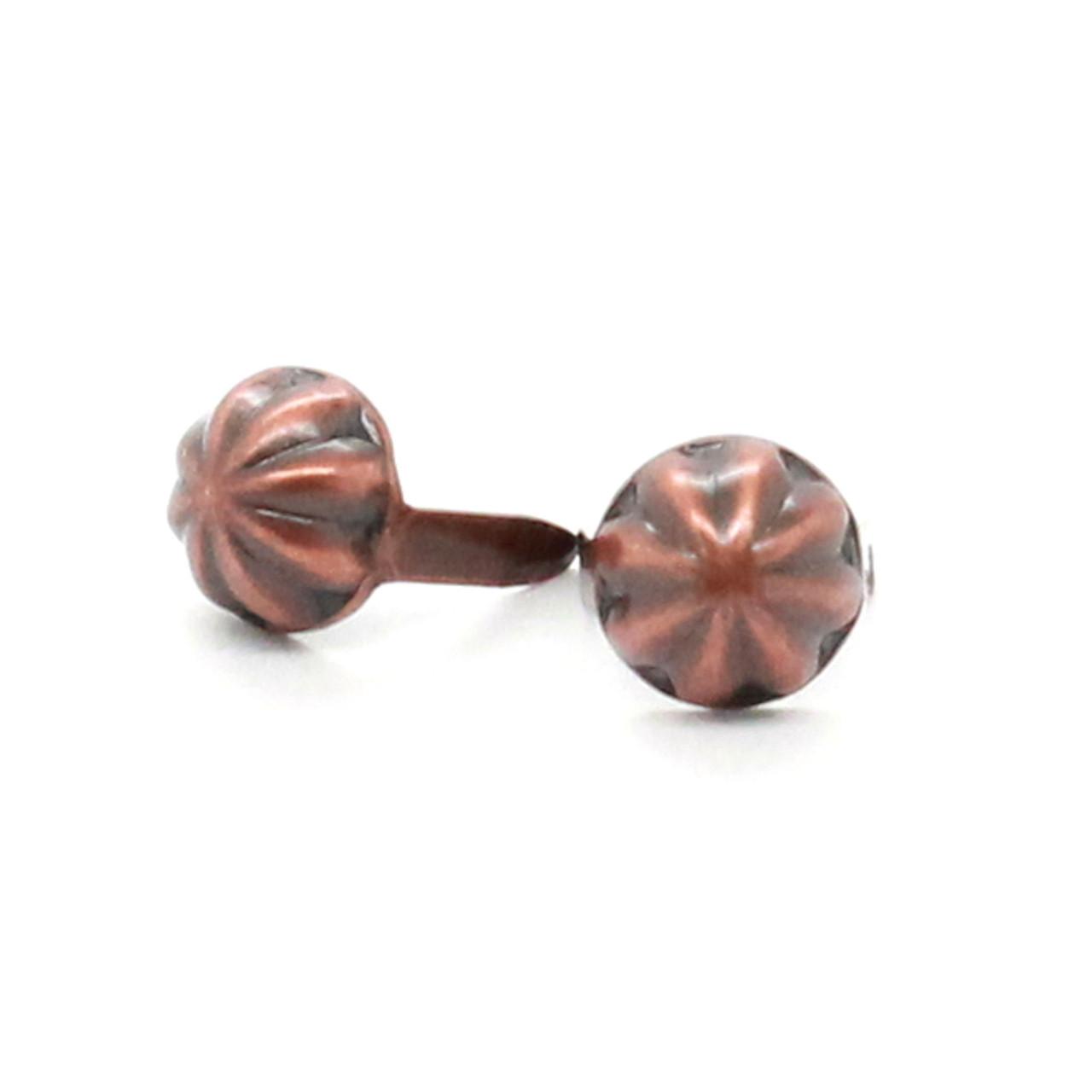 """Parachute Nail Head Spots Antique Copper 1/4"""""""