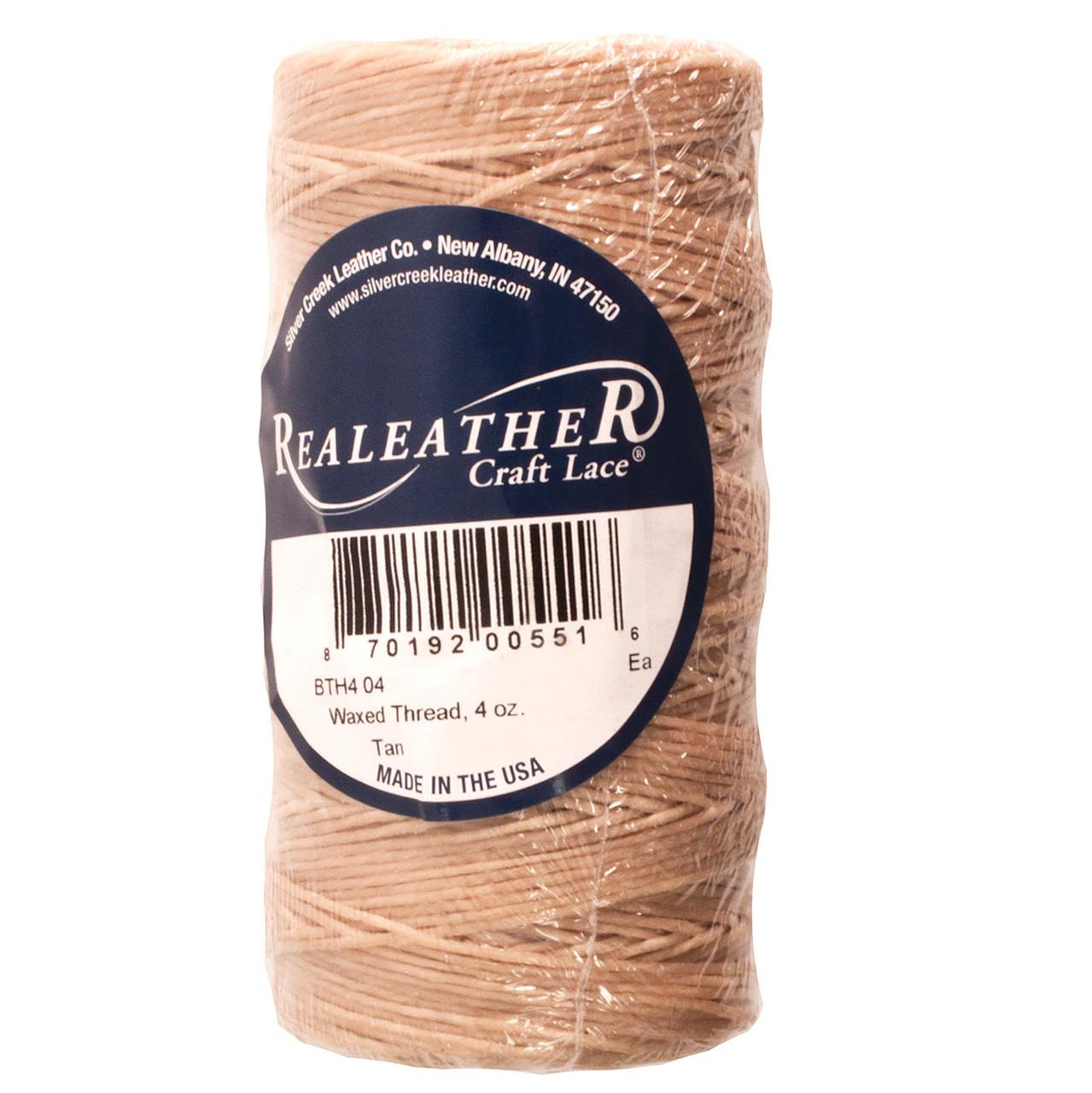 Waxed Thread Tan Polyester 270 Yards