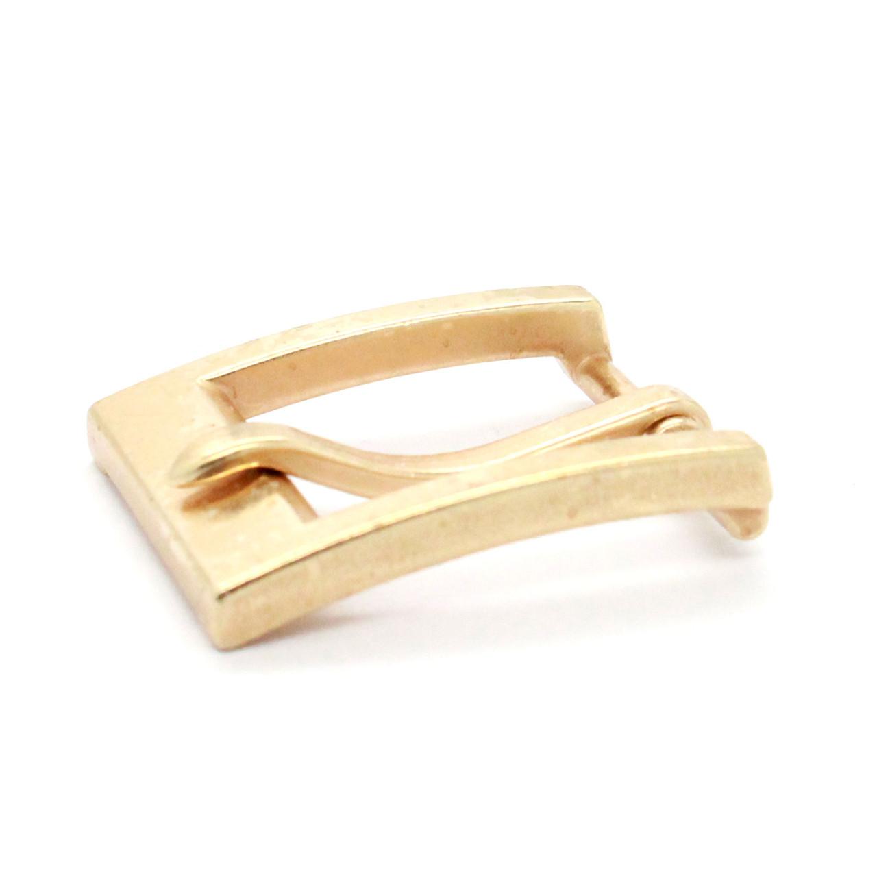 "Heel Bar Belt Buckle Brass Plated 1-1/4"" Side"