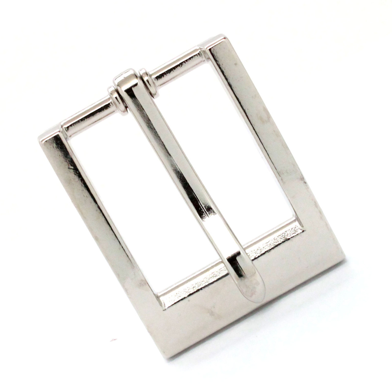"Heel Bar Belt Buckle Nickel Plated 1-1/4"" Front"