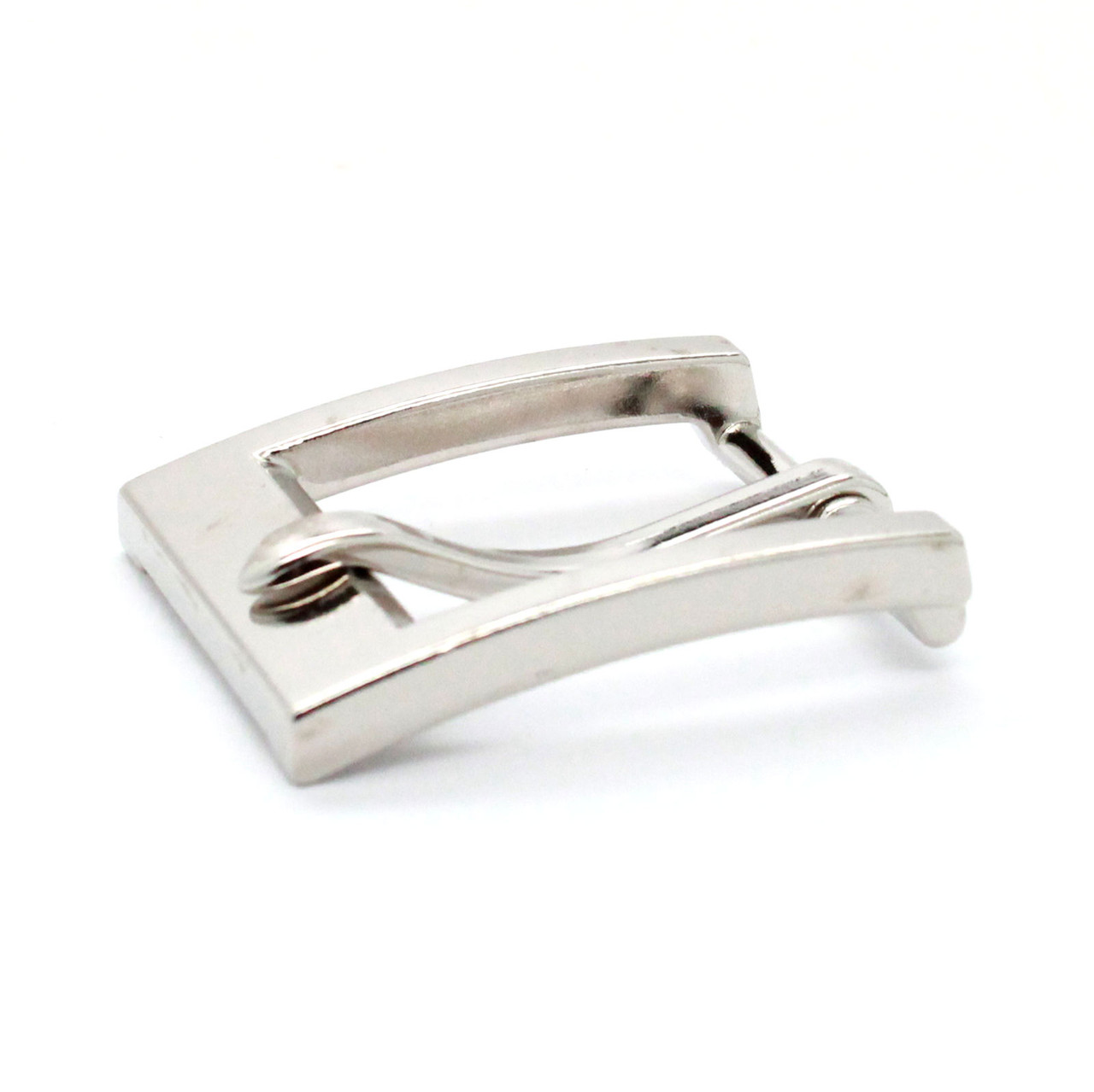 "Heel Bar Belt Buckle Nickel Plated 1-1/4"" Down"