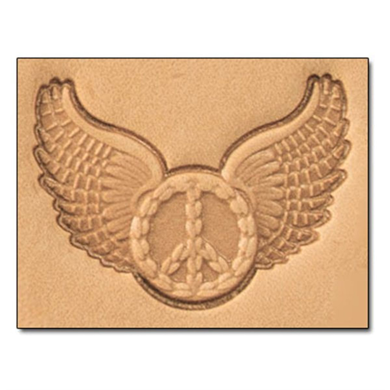 3-D Stamp Wings Peace