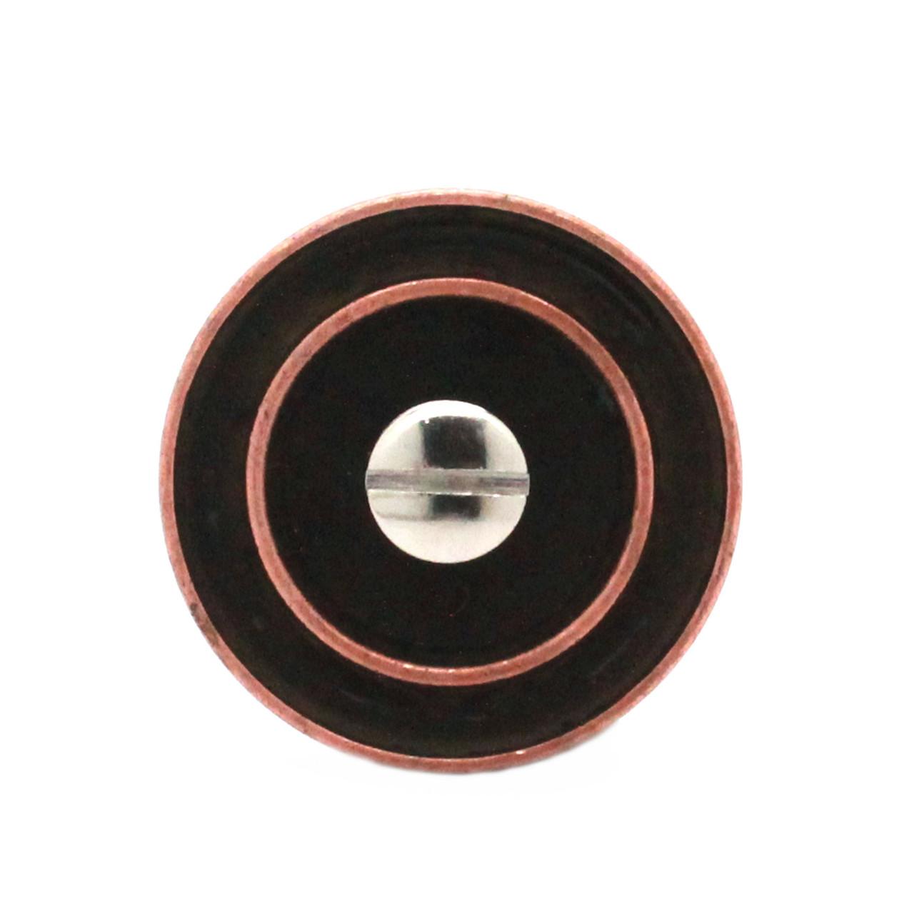 """Button Concho Rope Edge Antique Copper 1"""" Back"""