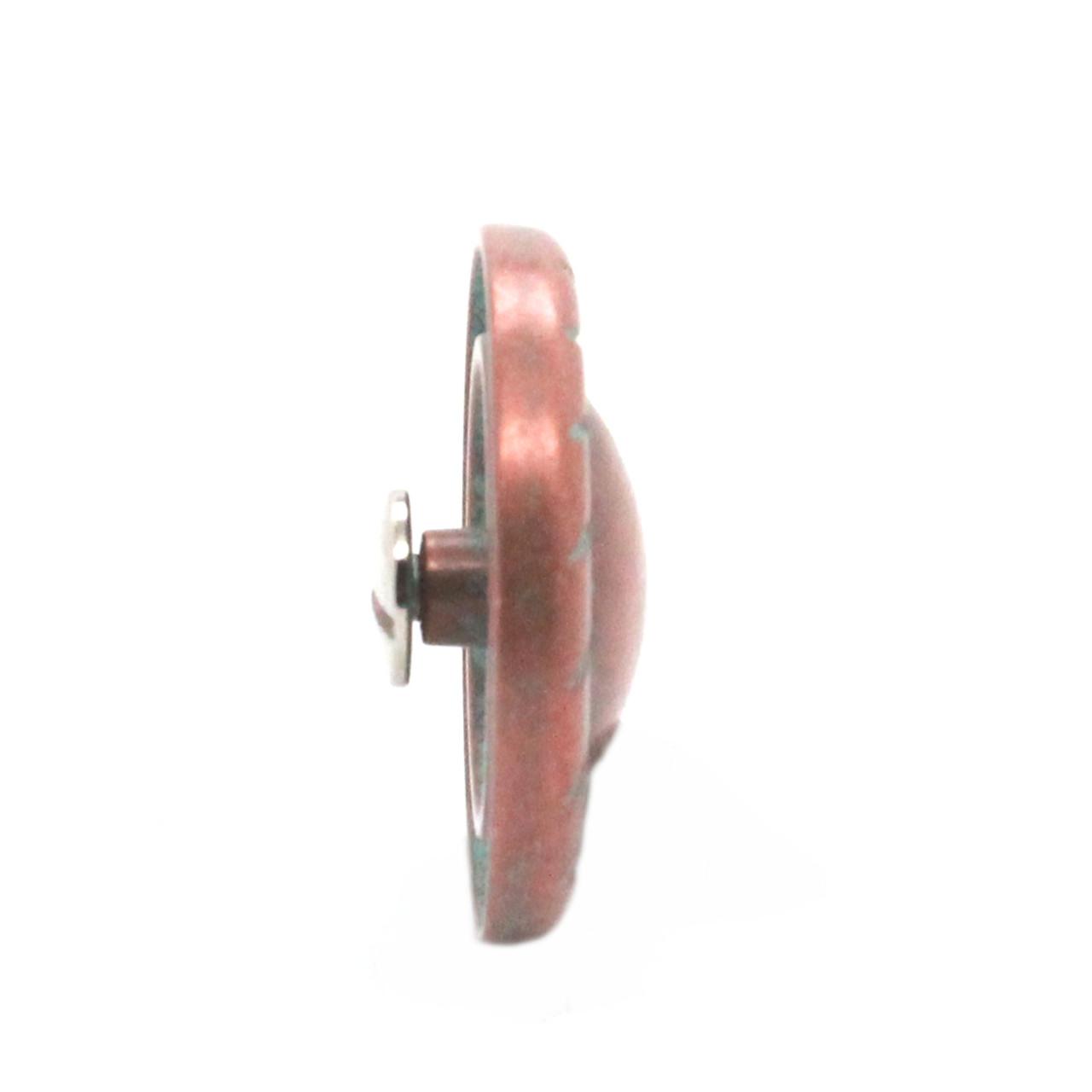 """Button Concho Rope Edge Copper Patina 1"""" Side"""