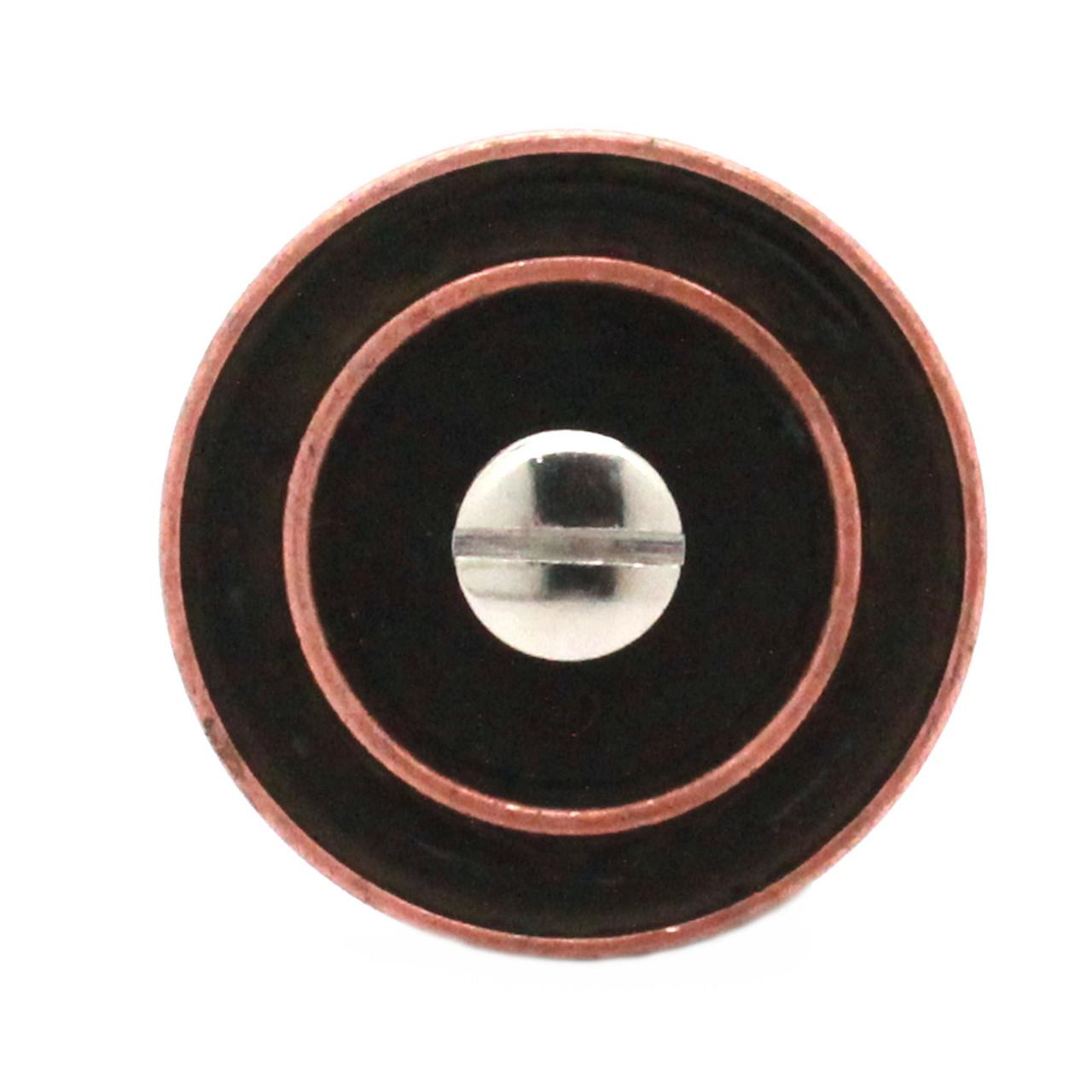 """Button Concho Rope Edge Antique Copper 1-1/4"""" Back"""