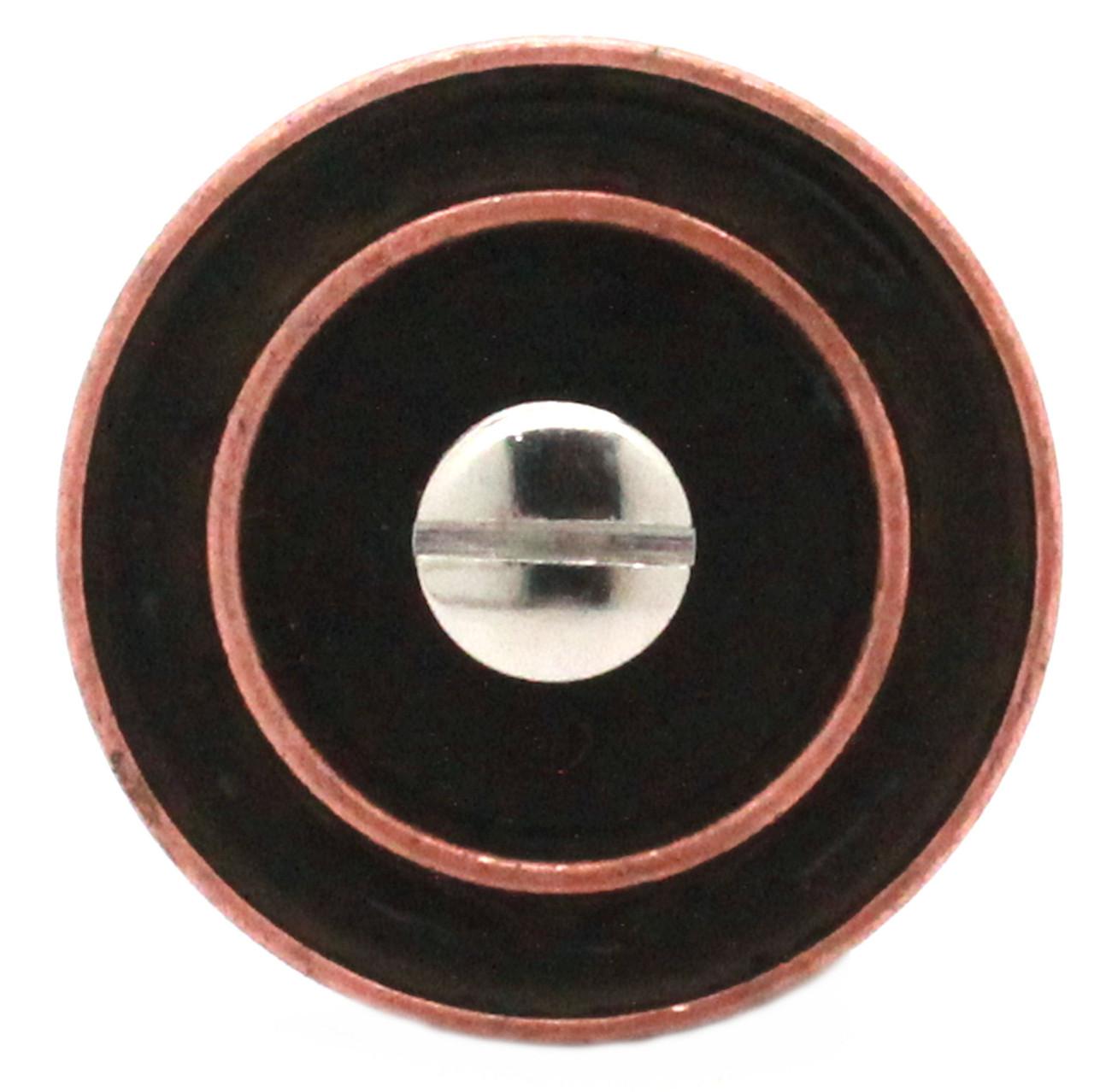 Button Concho Rope Edge Antique Copper 1.5 Inch Back