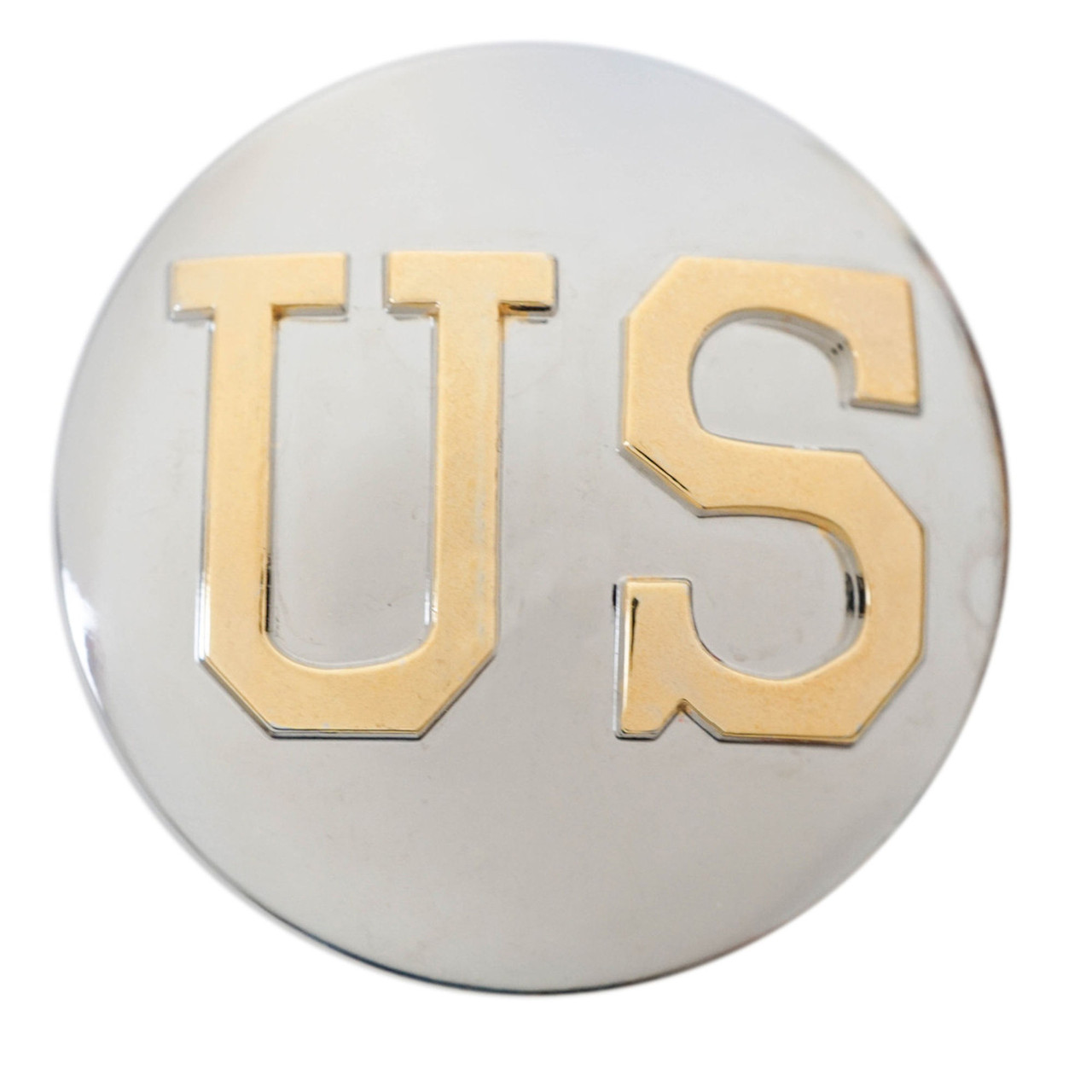 US Logo Concho Silver and Gold Screw Back Front