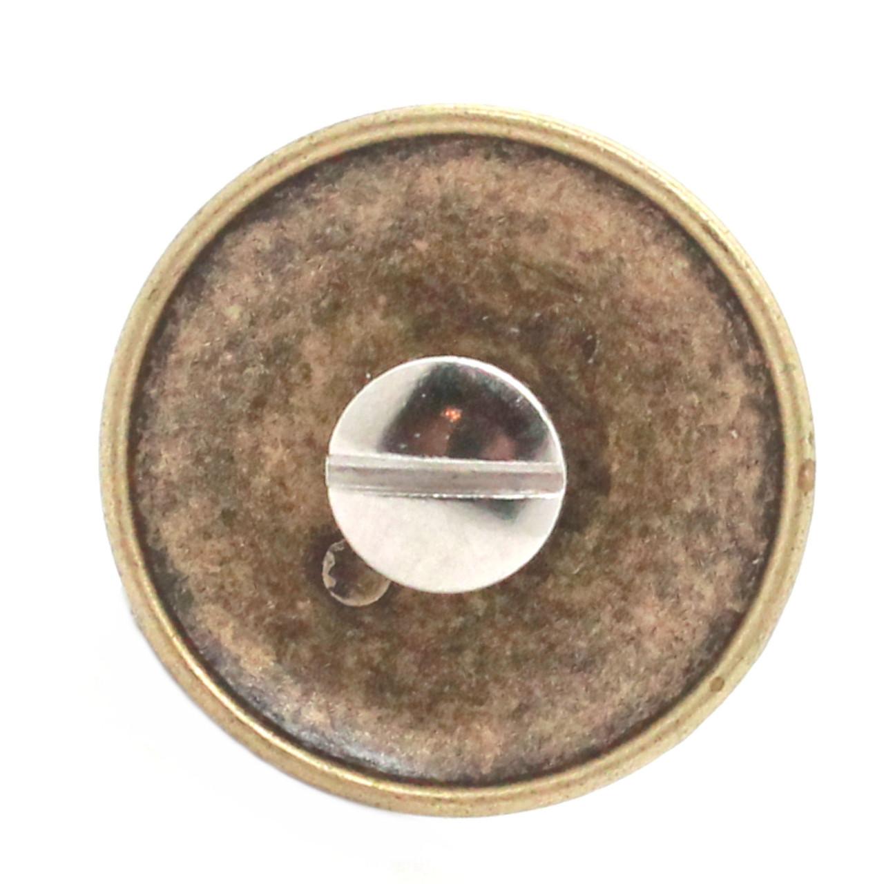US Calvary Concho Antique Brass Screw Back Back