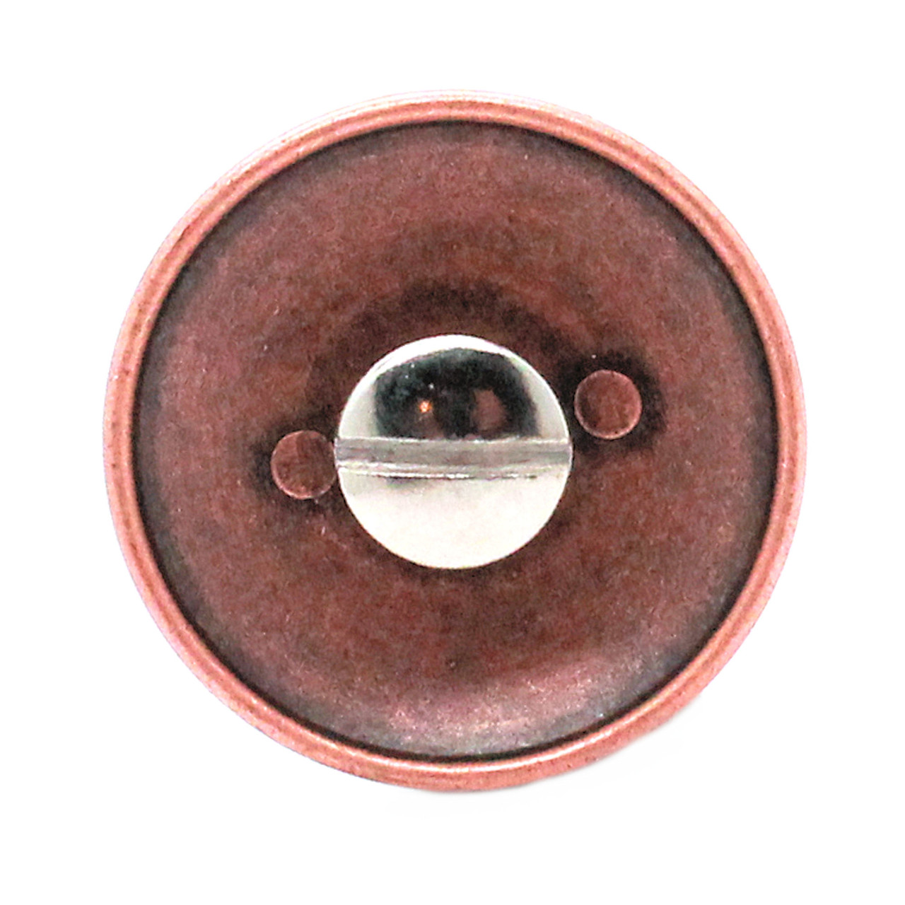 US Calvary Concho Antique Copper Screw Back Back