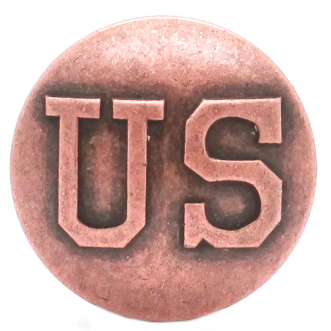 US Calvary Concho Antique Copper Screw Back Front