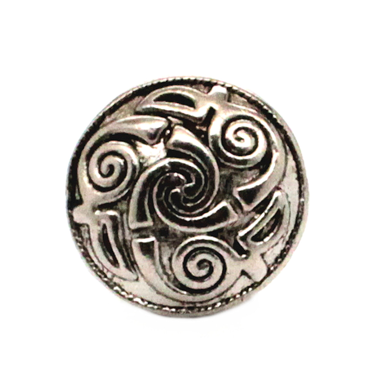 "Celtic Button Antique Nickel 7/8"" Front"