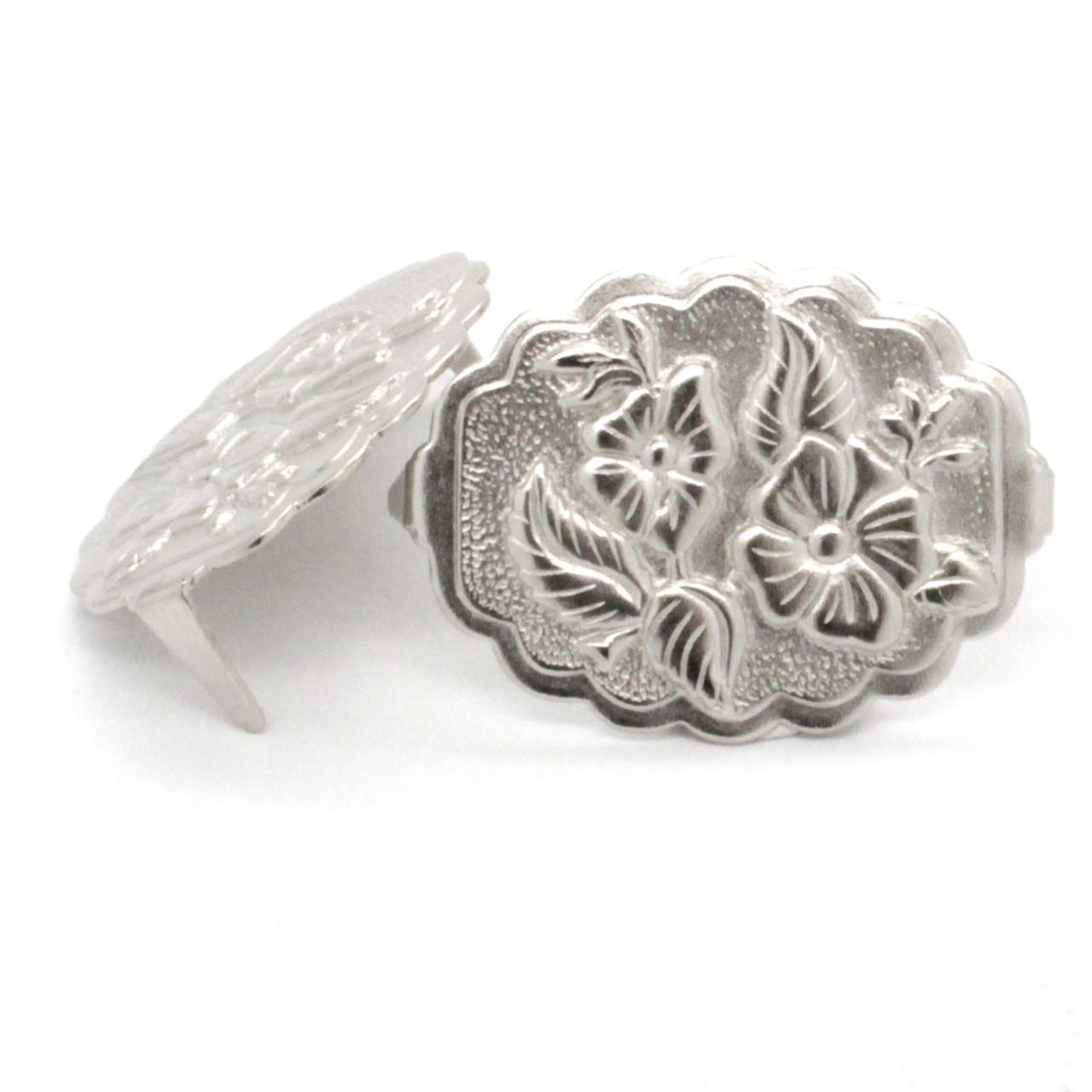 Santa Fe with Dual Cactus Flower Silver Plate Spots