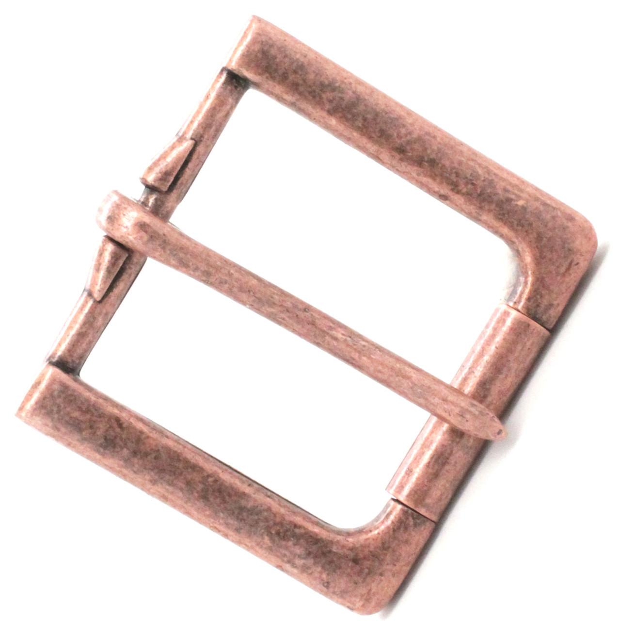 """Rugged Roller Belt Buckle Antique Copper 1-1/2"""" Side"""