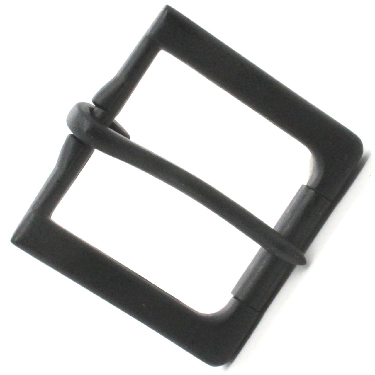 """Rugged Roller Belt Buckle Matte Black 1-1/2"""" Top"""