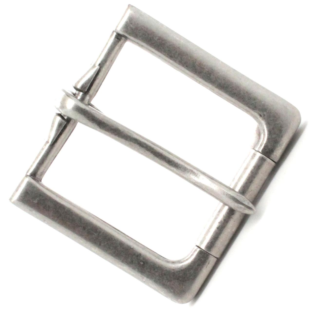 "Rugged Roller Belt Buckle Antique Nickel 1-1/2"" Top"