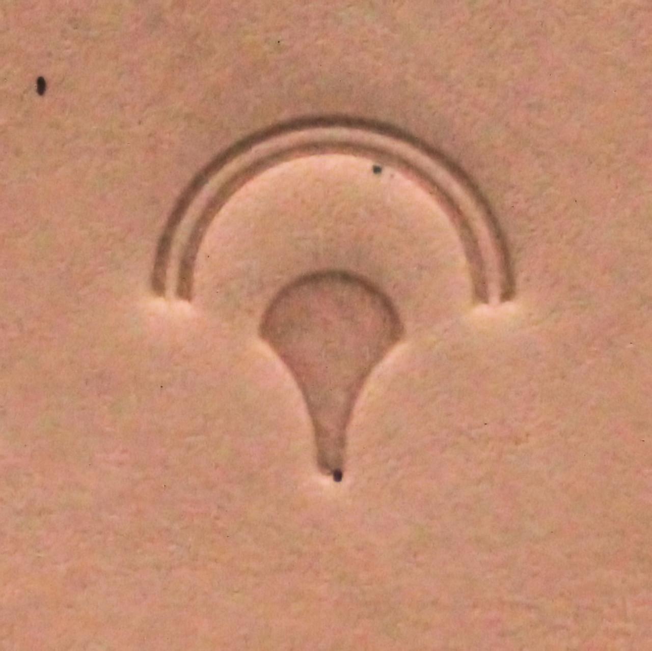 Geometric Leather Stamp G873 Impression