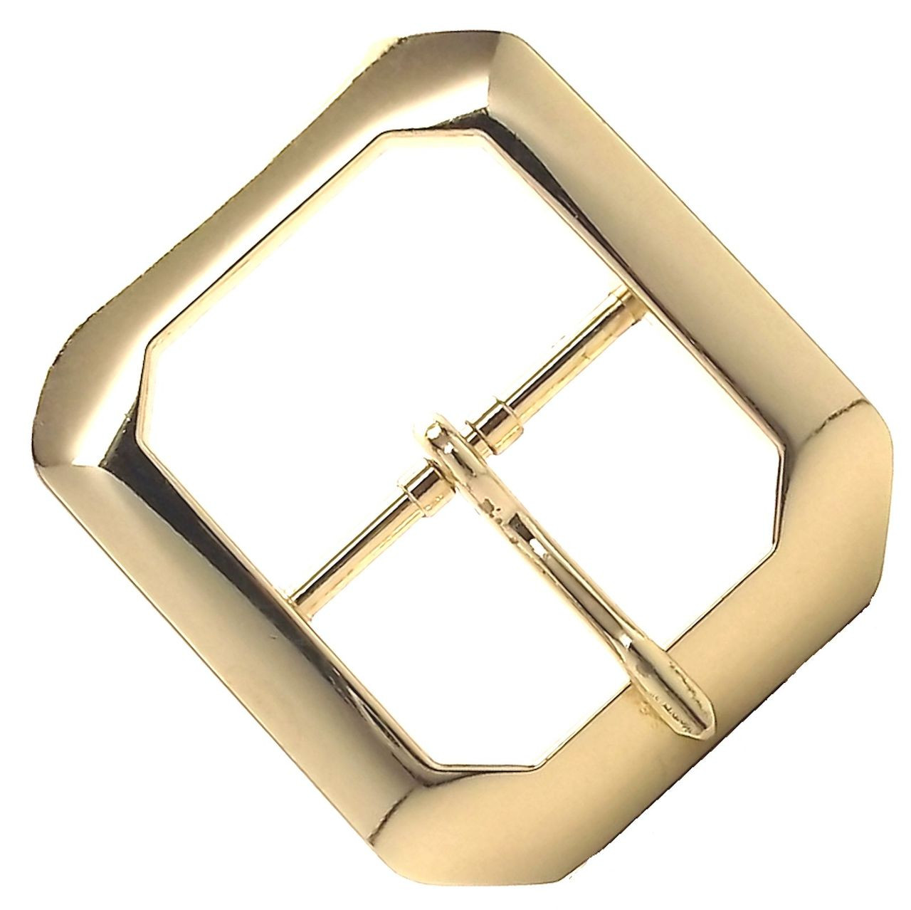 """Antique Brass Plated Clipped Corner Belt Buckle 1-1//2/"""" 1587-09"""