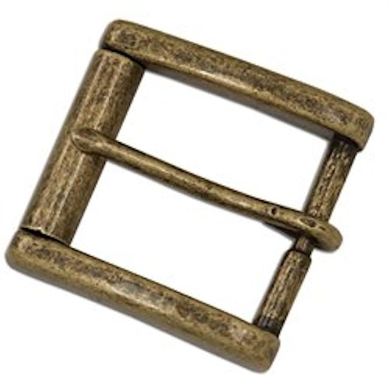 """Monti Roller Buckle 1-1/2"""" Antique Brass"""