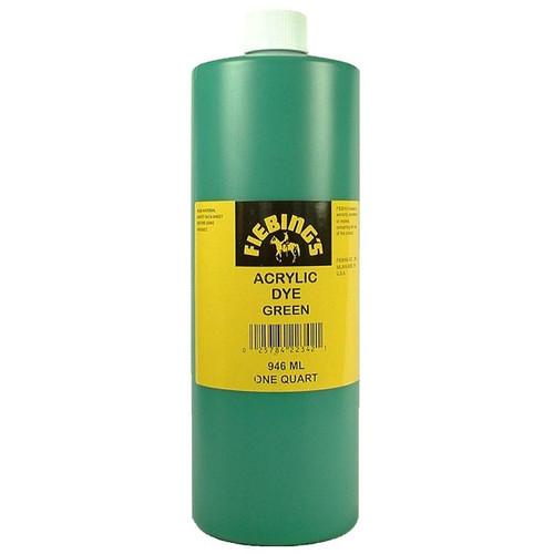 Fiebing's Green Acrylic Leather Dye Paint 32 oz. (946 ml) 2604-24