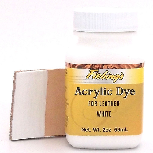 White Fiebing's Acrylic Leather Paint